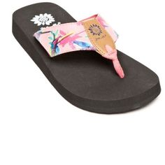 d81d4f1ad Yellow Box Pink Macaw Parrot Print Flip-Flops - Women s ( 18) ❤ liked