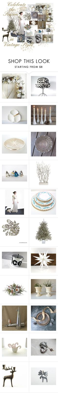 """""""Celebrate the Season"""" by vintageandmain ❤ liked on Polyvore featuring interior, interiors, interior design, home, home decor, interior decorating, Pier 1 Imports, Aynsley, WMF and Royal Worcester"""