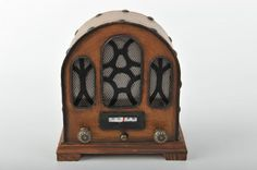 Miniature Old Fashioned Radio Vintage Decoration от ElCidVintage