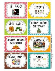 Labels For The Whole Classroom {Including Book Bin Labels}