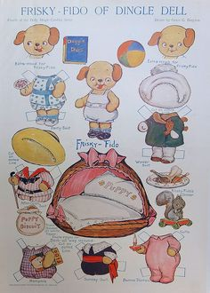 Totally cute. Look at the little squirrel!!! Vintage Drayton paperdolls :) by Hitty Evie, via Flickr