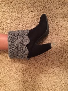 A personal favorite from my Etsy shop https://www.etsy.com/listing/264812411/crochet-ankle-boot-cuff
