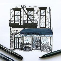 New York #6  #wwpiercenewyorkseries #newyorkcity #nyc #newyork #art #artist #drawing #draw #illustration #illustrator #black #white #pen #ink
