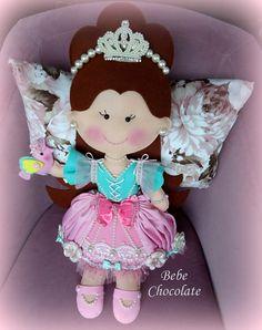 felt pillow, felt princess. 3 yaşındaki bir kız için prenses takı yastığım