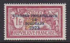 FRANCE 1923. N°182. CONGRES BORDEAUX NEUF XX ET SUPERBE. 925€. [A495]