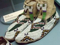 Native American moccasins Plains tribes 19th century CE 3 by mharrsch, via Flickr