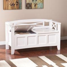 Harper Blvd Corin White Storage Bench