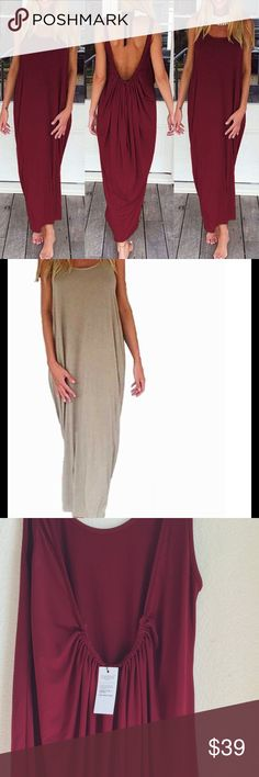 Beach Dress Loose dress, Burgundy and Beige available,great for summer, see the size chart Swim Coverups