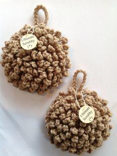 Ultime Non abrasif plat & Pot lavette, Crochet Poofy Scrubbies, Tawashi torchon à vaisselle, bain Puff, laveurs. 2pcs. lot.