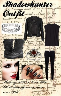 """Casual Shadowhunter Outfit"" by fou-heureux-bien ❤ liked on Polyvore 