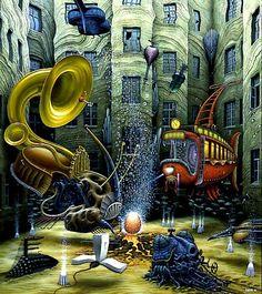 The life is born - Jacek Yerka #Surreal