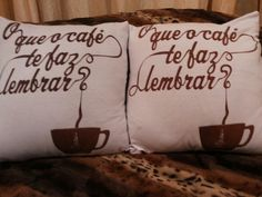Almofadas  O que café te faz lembrar?