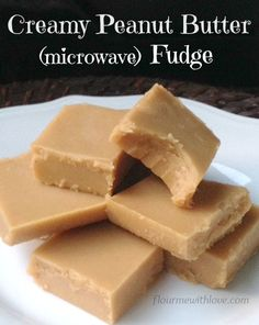 ***Easy Creamy Peanut Butter Fudge ~ made in the microwave!