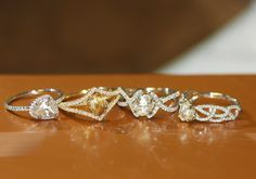 Our classic, victorian, unity, and vine engagement rings