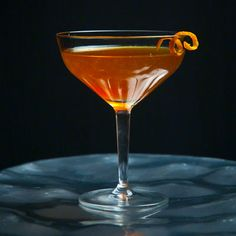 Harvest Moon Drink Recipe | Tasting Table - Maker's Mark whiskey, lemon juice, Cynar, maple syrup, sherry to wash/flavor glass