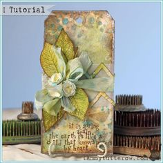 Tuesday Tutorial | Spring Poems Tag featuring Faux Soldering - Tammy Tutterow Designs