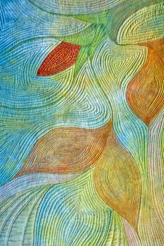 Spring Rhapsody by Nancy Cook. Art Quilt.