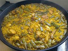 Paella valenciana tradicional Paella Recipe, 20 Min, Food To Make, Spanish, Food Porn, Pasta, Cooking, Breakfast, Healthy
