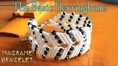 Macrame bracelet tutorial: The basic herringbone pattern - step by step macrame idea craft guide. Another herringbone macrame bracelet, old pattern but never boring, combine with some beads, you will make a very cute armlet. Just try this macrame idea Macrame Jewelry Tutorial, Macrame Necklace, Macrame Bracelets, Loom Bracelets, Chevron Friendship Bracelets, Friendship Bracelets Tutorial, Micro Macramé, Macrame Youtube, Armband Tutorial