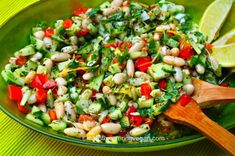 Mouth Watering MIDDLE EASTERN STYLE SALAD and the DRESSING RECIPE - A Healthy Salad