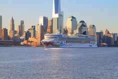 Norwegian Gem On The Hudson River Lower Manhattan In The Background
