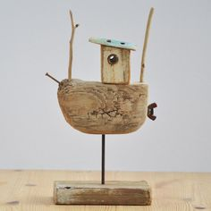 Driftwood fishing boat 5 by shore stuff! Super Cute! #YWC #ModelBoats Everyone Should Have A Pair Of These! http://amzn.to/2vzkFlw