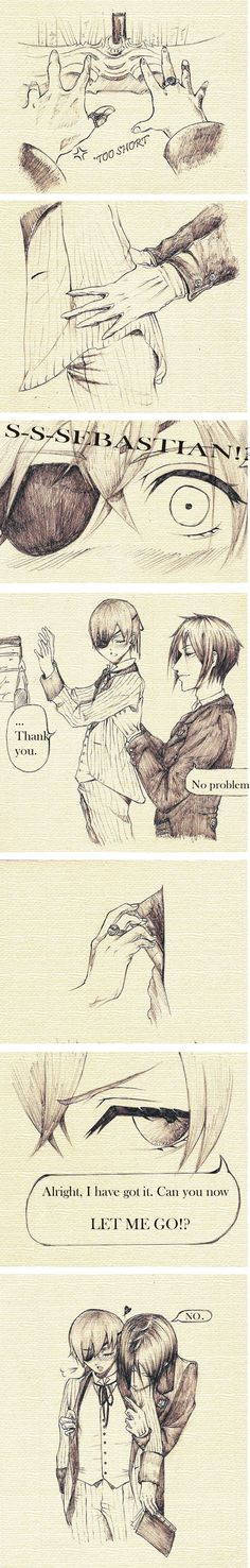 Sebastian x Ciel: Always by your side by ~SebbyxCiel03 on deviantART. I shouldn't enjoy these as much as I do.