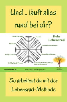 Die Lebensrad-Methode The life cycle method. Bullet Journal Tracker, Work Life Balance, Mindful Living, Life Cycles, The Life, Better Life, Self Improvement, Trauma, Coaching