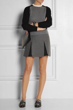 J.W.Anderson|Neoprene-effect wool-blend mini skirt|NET-A-PORTER.COM