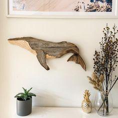 Wood Home Decor, Home Decor Wall Art, Wood Wall Art, Reclaimed Wood Art, Recycled Wood, Whale Decor, Heart Wall Art, Wooden Walls, Wall Sculptures