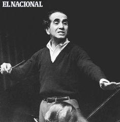 Pedro Antonio Ríos Reyna dirigiendo la Sinfónica durante un ensayo. Caracas, 20 de julio de 1963 (LUIGI SCOTTO / ARCHIVO EL NACIONAL)