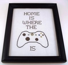 If you're a fan of video games, you've got to head over to The Domestic Scientist for this funny (and free!) cross-stitch pattern download with a message t