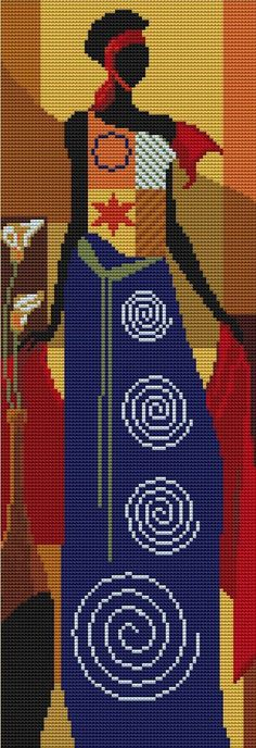 Estoy haciendo un conjunto de tres cuadros de punto de cruz . Quería que fuesen de temática africana , pero los que me gustaban no tenía...