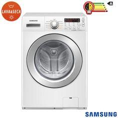 Lava & Seca 13 Kg, Samsung Squall Jr. Eco Bubble Branca com 11 Programas de Lavagem - WD136UVHJWD