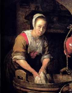 Gabriel Metsu ~ (Dutch) ~ Washerwoman