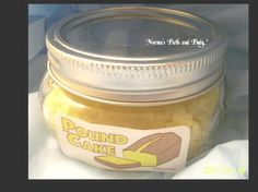 OMG.. this lemon pound cake sugar body scrub will make you feel like that you're in Heaven:)  very exfoliating and for use in bath or shower. the oils are moisturizing, use caution. smells good enough