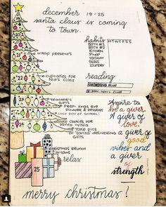 15 Christmas Bullet Journal Layout Ideas + FREE Printable Christmas Headers ⋆ The Petite Planner Bullet Journal Christmas, December Bullet Journal, Bullet Journal Inspo, Bullet Journal Layout, Bujo, Journal Español, Calendar Journal, Journal Fonts, Weekly Calendar
