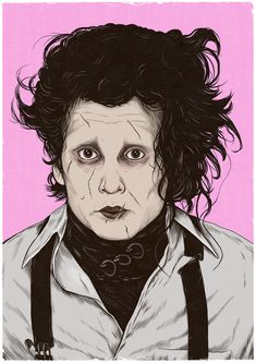 Getting back into the swing of things after the holidays, enjoying doing some movie portrait / posters to get going again ✍🏻 . Tim Burton Films, Edward Scissorhands, Portrait Sketches, Johnny Depp, Behind The Scenes, Nostalgia, Drawings, Holidays, Illustration