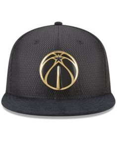 1b2697163 New Era Washington Wizards On-Court Black Gold Collection 9FIFTY Snapback  Cap - Black Adjustable