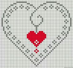 Thrilling Designing Your Own Cross Stitch Embroidery Patterns Ideas. Exhilarating Designing Your Own Cross Stitch Embroidery Patterns Ideas. Perler Patterns, Loom Patterns, Heart Patterns, Beading Patterns, Embroidery Patterns, Cross Stitch Heart, Cross Stitch Cards, Cross Stitching, Cross Stitch Embroidery