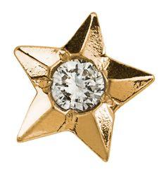 Twinkles 24K Yellow Gold Dental Jewelry Star w Diamond 0 01 Ct | eBay