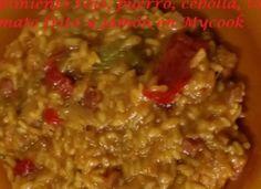 Arroz con jamón, trigueros y pimiento rojo para #Mycook http://www.mycook.es/receta/arroz-con-jamon-trigueros-y-pimiento-rojo