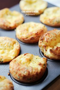 Cheddar Chive Popovers | Sunday brunch just got significantly better #recipe