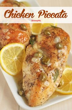 This quick and easy Chicken Piccata Dinner is so full-flavored, you'd swear you spent all day making it! Healthy Italian recipes have never been easier. Healthy Italian Recipes, Healthy Dinner Recipes, Cooking Recipes, Skinny Recipes, Cooking Ribs, Healthy Dinners, Clean Recipes, Free Recipes, Baked Chicken