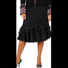 Elegant Layered Skirt – Lil Touch of Bling Boutique