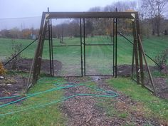 Give your Unused Swing Set a New Purpose - Green Talk® Small Swing Sets, Outside Swing, Grape Plant, Tire Swings, Hanging Flower Baskets, Recycled Garden, Play Yard, Small Space Gardening, Climbing Roses