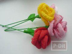 งานฝีมือจากกระดาษ ทํางานที่บ้าน งานพิเศษ สอนทำดอกไม้สวยๆ http://sanookparttime.blogspot.com/2015/01/blog-post.html