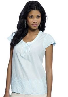 IZOD  Floral Embroidered Top