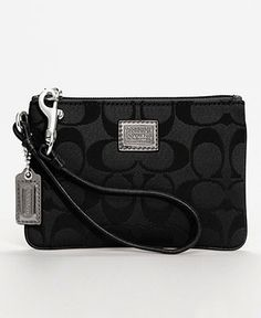 c3a75a4af1a COACH POPPY SIGNATURE SMALL WRISTLET Handbags   Accessories - COACH -  Macy s. Coach PoppyLittle BagSarah ...