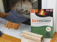 Make firewood last up to 33% longer with this reusable steel mesh mat. It distributes heat evenly and burns wood down to fine ash.
